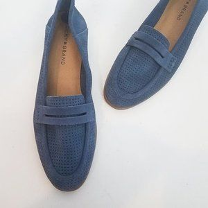 LUCKY BRAND Caylon Blue Leather Loafers NWOB 8.5